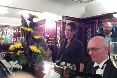 Sandrine Mallick dans l'Orient Express