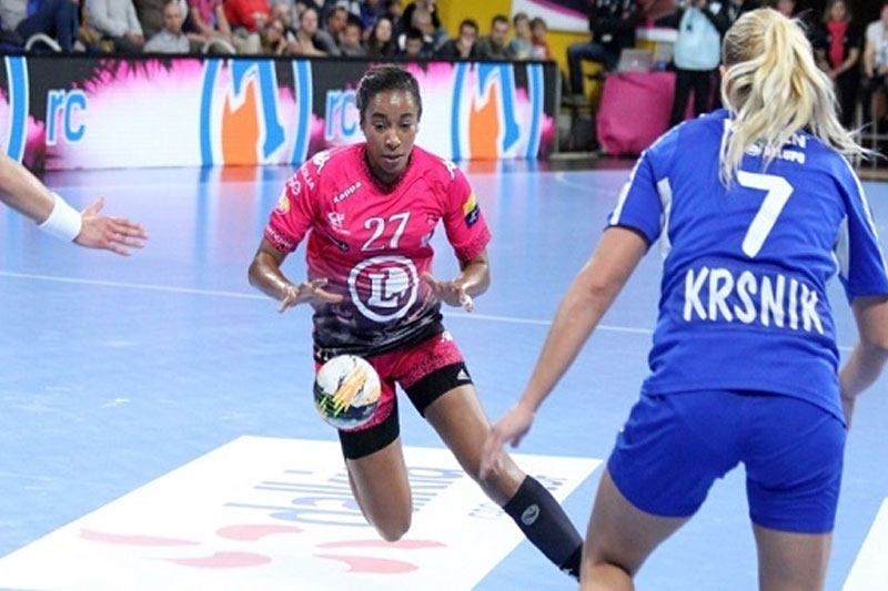 Match animé avant la soirée de l'US Orléans Handball